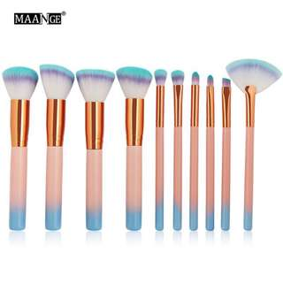 🦋MAANGE 7Pcs/10pcs set Texture Makeup Brushes Kit Fan Brush🦋