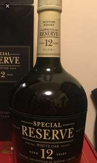 舊版三得利SR12年威士忌700ml without box.