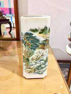 Vintage Porcelain Brush Pot