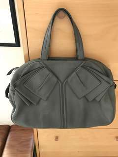 YSL Leather Handbag (Grey Colour)