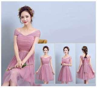 Korean Evening Gown Bridesmaid Dress
