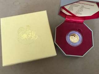 Singapore 2017 Rooster Gold Proof coin