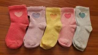 6-12m Mothercare Baby Socks 5 pairs