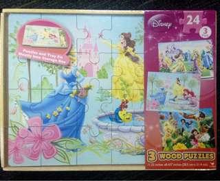 3pcs Disney Wood Puzzle