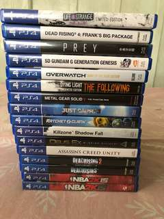 Ps4 games overwatch life is strange nba dead rising