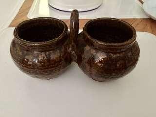 Antique Twinned Pots
