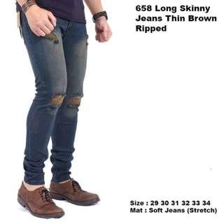 Long skinny jeans