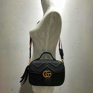 Gucci GG Marmont Crossbody Black Color