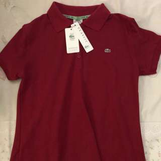 Authentic Lacoste burgundy polo shirt