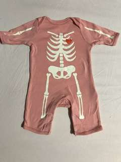 Old Navy Skeleton Jumpsuit (Design glow in the dark)