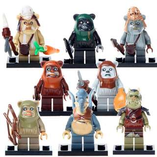 [LESTE] Star Wars Ewok Warrior Minifigure Set Of 8