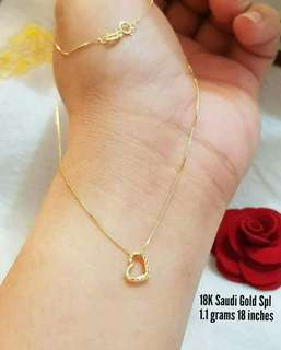Onhand- 18k saudi gold necklace