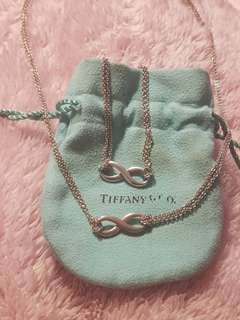 Tiffany & Co. Infinity Necklace and Bracelet set