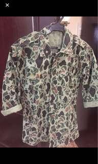 camouflage with studs slim fit blazer