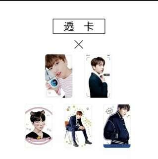 [√] BTS JUNGKOOK TRANSPARENT CARDS