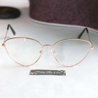 Pixy Cat eye Rosegold Eyewear (nonreplaceable)