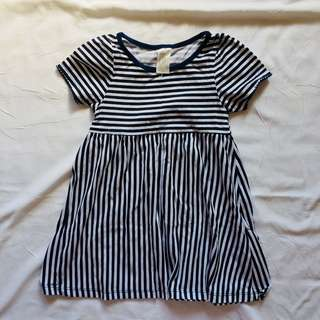 H&M Striped Dress 1-2 y/o