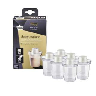 Tommee Tippee Closer to Nature - Milk Powder Dispensers x 6
