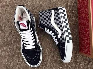 Vans Sk8hi Checkboard Grey Black