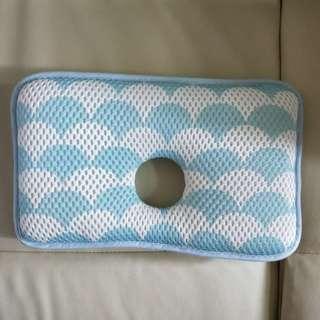 Yodo xiui嬰兒枕 日本正品 透氣網眼 寶寶枕 午睡枕 調整頭型枕 3D枕 藍