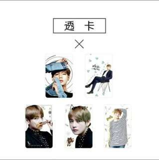 [√] BTS V TRANSPARENT CARDS