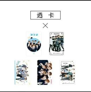 [√] BTS TRANSPARENT CARDS