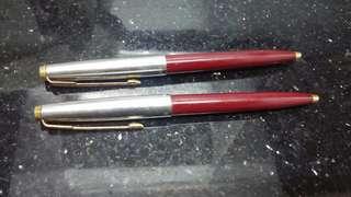 (七八十年代)-Parker-經典45款式原子筆(共兩支)懷舊