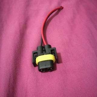 🚚 插頭 汽車 防水 H11 燈座 霧燈 原廠 規格 通用 母座 插頭特殊改裝 HID LED 帶線約10cm