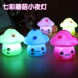 Brand new with box mushroom design LED small night light lamp