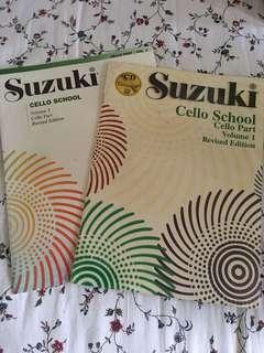 Suzuki Cello Volume 1 & 2 Books