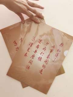 「朕知道了」100%NEW台灣出產搞鬼 A4文件夾 國立故宮博物院