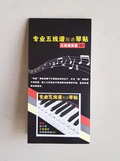 Keyboard or Piano Laminated sticker music notes
