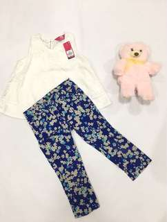 Top and Floral Pants Set