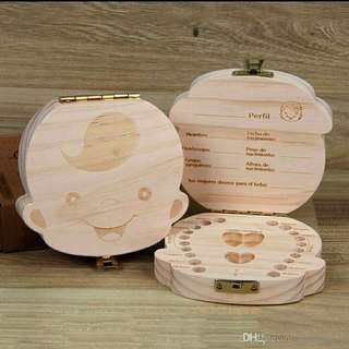 1 Wooden Tooth Box ( 3 units left)