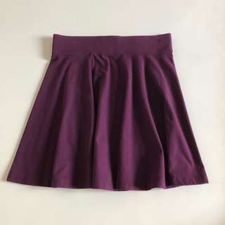 H&M Purple Dark Skater Skirt