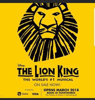 LOOKING FOR 2 LION KING TIX MAY 26 OR 27