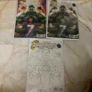 Marvel champion artgerm comic variant set