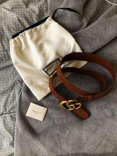 Gucci Embellished Leather Belt - Brown