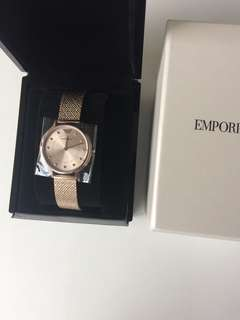 Emporio Armani watch women rose gold