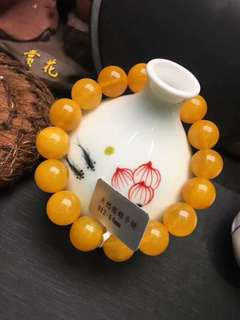 Natural beeswax bracelet
