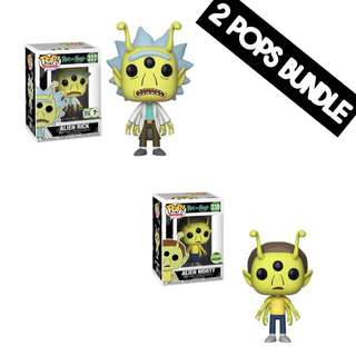 [Reserve Early] Funko Pop! Alien Rick & Alien Morty 2018 ECCC Exclusive Bundle