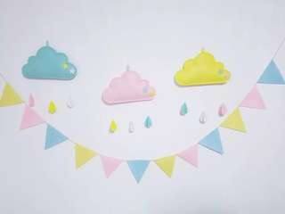 Bunting garland - high quality wrinkle-free felt material birthday party