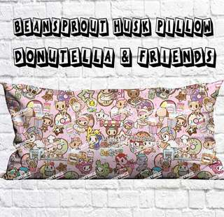Baby Beansprout Husk Pillow - Donutella and friends