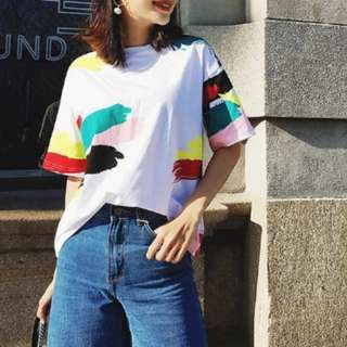 *Brand New* Trendy Colourful Nursing Tshirt Top