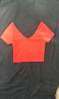 Cotton On Red Crop Top
