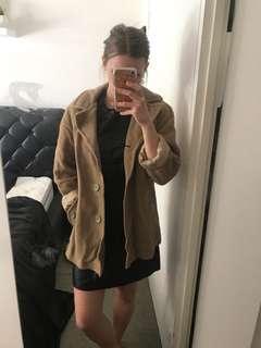 Beige winter coat jacket