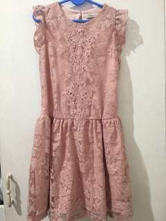 Peppermint old rose dress