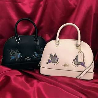 Coach Sierra Satchel with Bird Bag