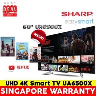 Sharp LC-60UA6500X 60 inch. UHD 4K Smart TV.3 Years Local warranty by Sharp.