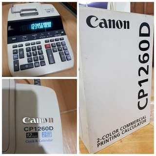 NEW UNUSED: Canon CP1260D 12 Digits 2-Color Commercial Printing Calculator